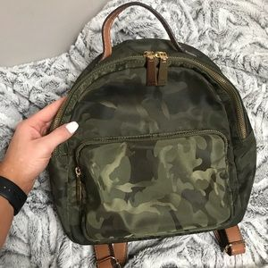 Tommy Hilfiger Mini Backpack Purse camo